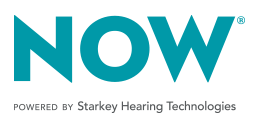 NOW Powered By Starkey Hearing Technologies logo